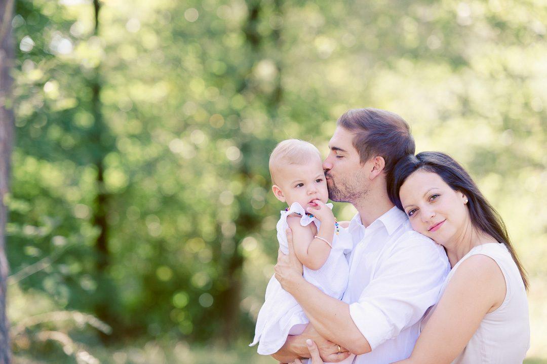 Familienfoto und Portrait einer Familie in Königsbrunn