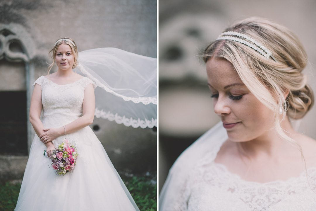 Brautfotos bei strakem Wind