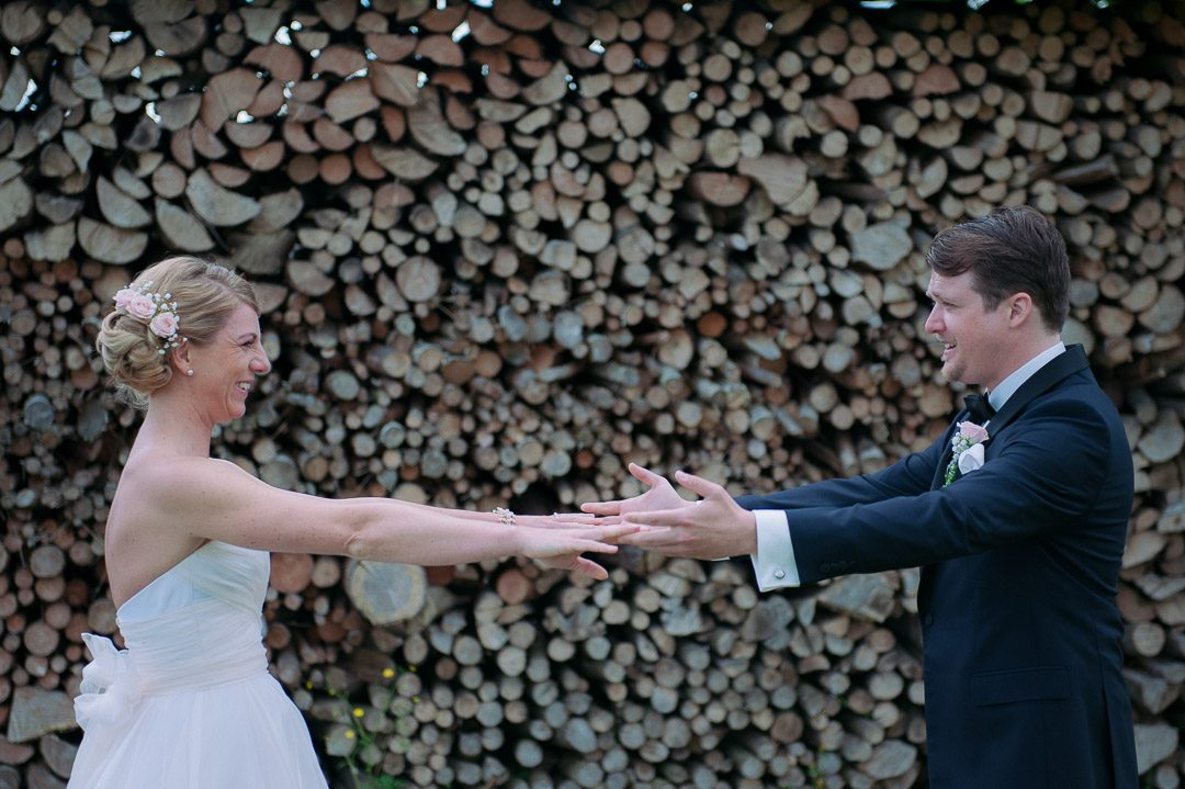 Tränen am Hochzeitstag beim First Look