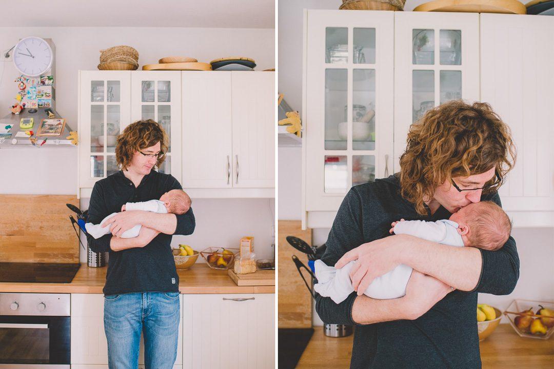 Babybilder Fotoshooting in der Küche