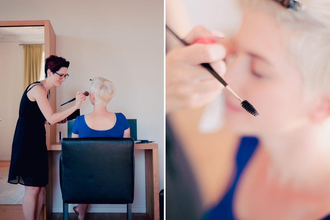 Professionelles Braut Make-up und Brautfrisur
