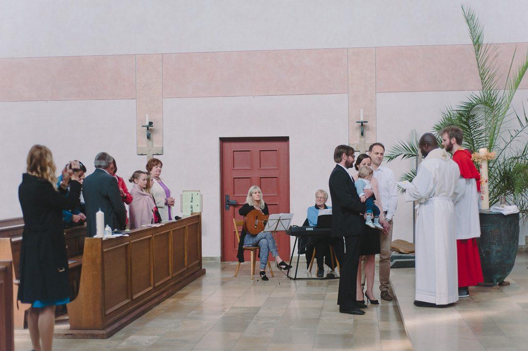 Taufe im Kreise der Familie