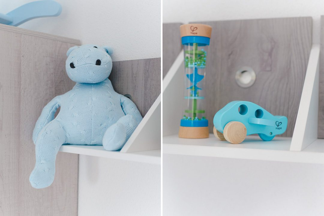 Gestrickter Hippo in hellblau