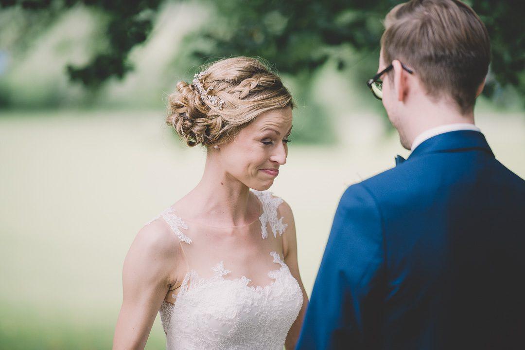 Tränen beim First Look am Hochzeitstag