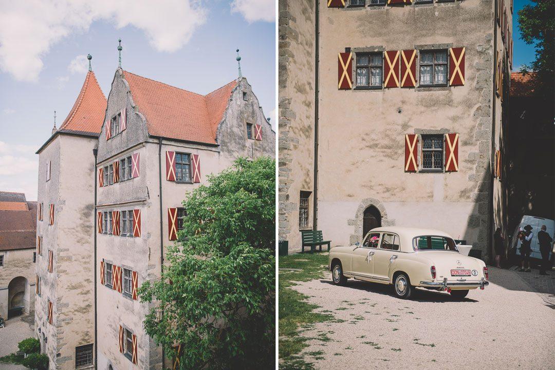 Mittelalterliche Burg Schloss Harburg