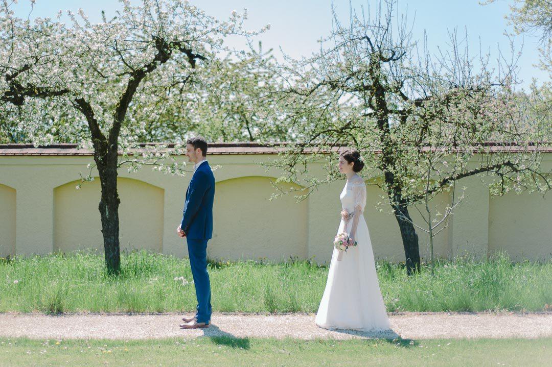 First Look Hochzeitsfotos Kloster Holzen Allmannshofen