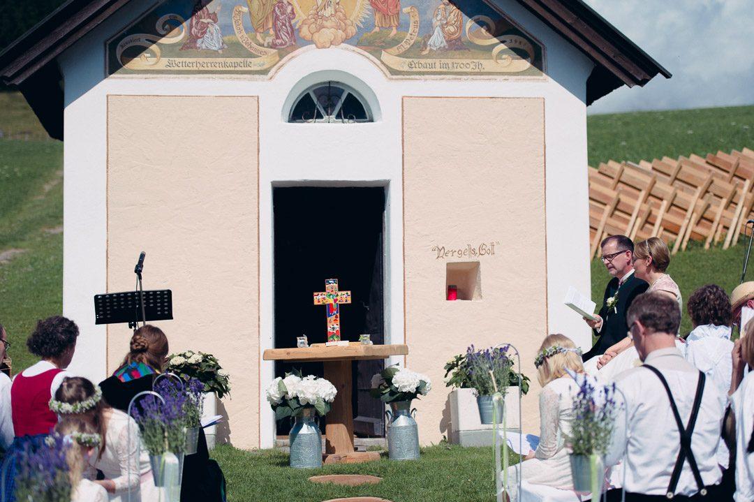 Heiraten an der Wetterherrenkapelle Jufenalm Maria Alm