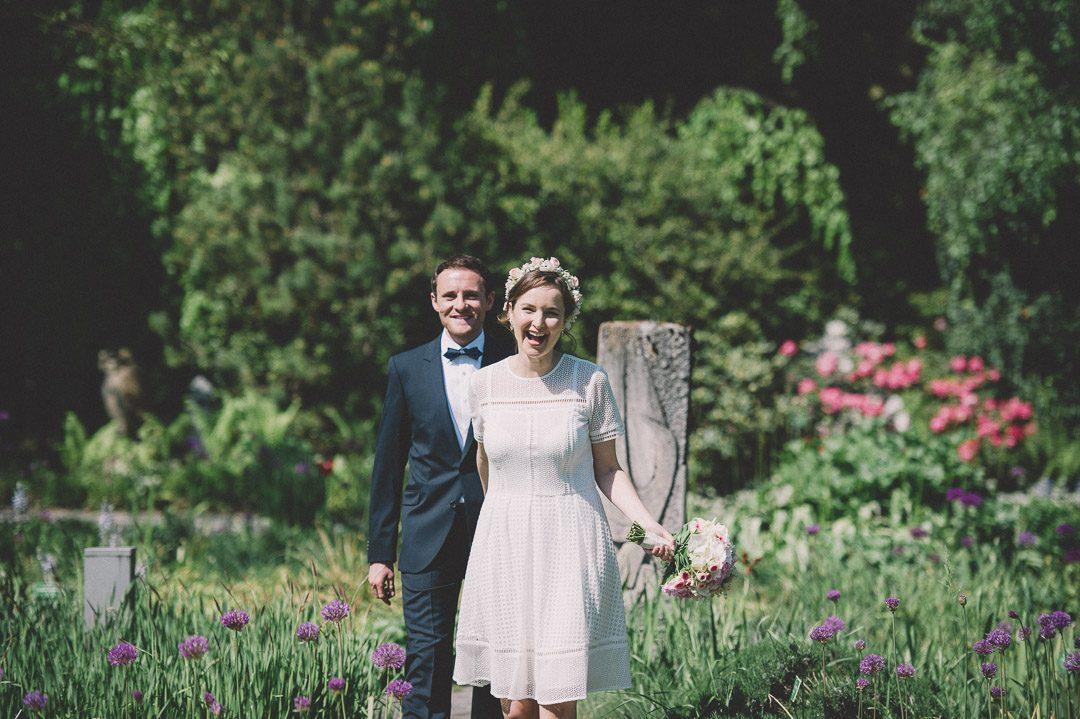 Brautpaar vor der Trauung Botanischer Garten Augsburg