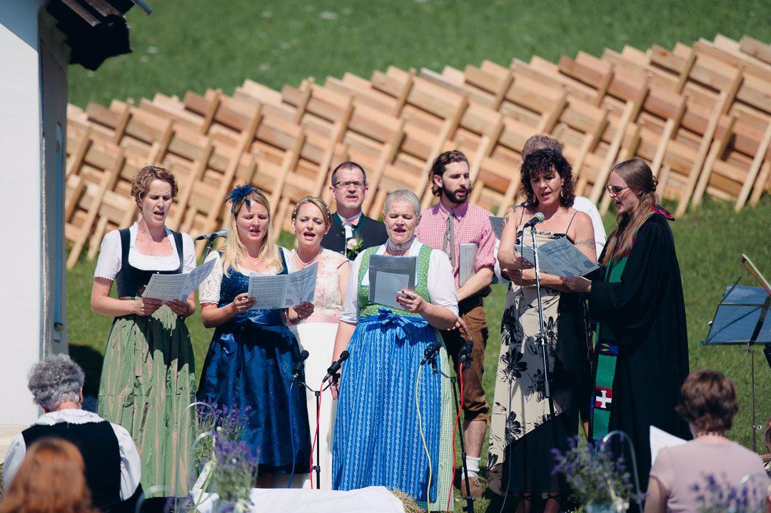 Outdoor Hochzeit auf der Alm