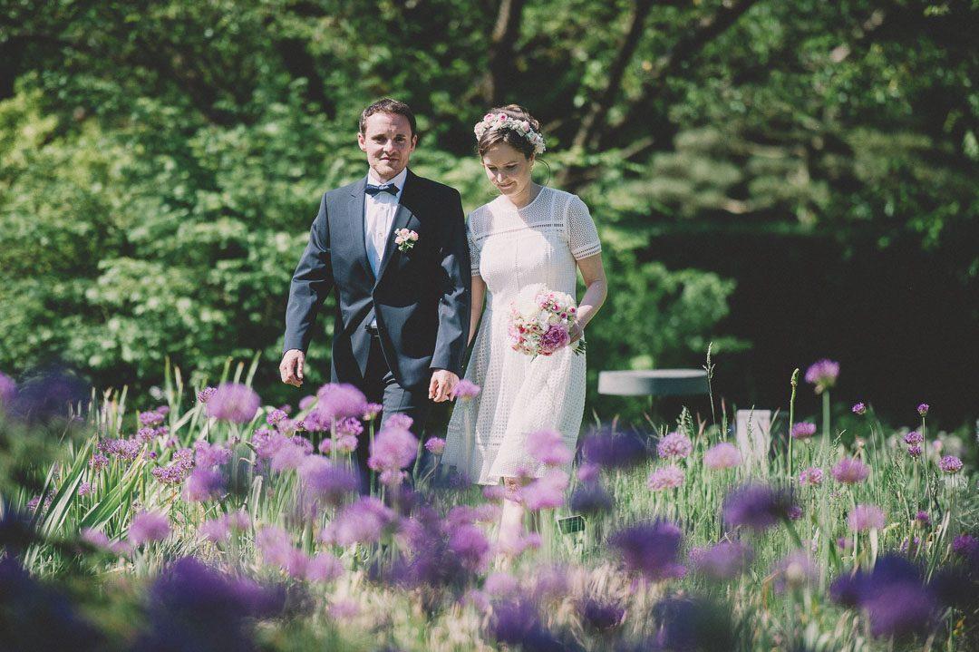 Blütenmeer bei Hochzeit im Mai
