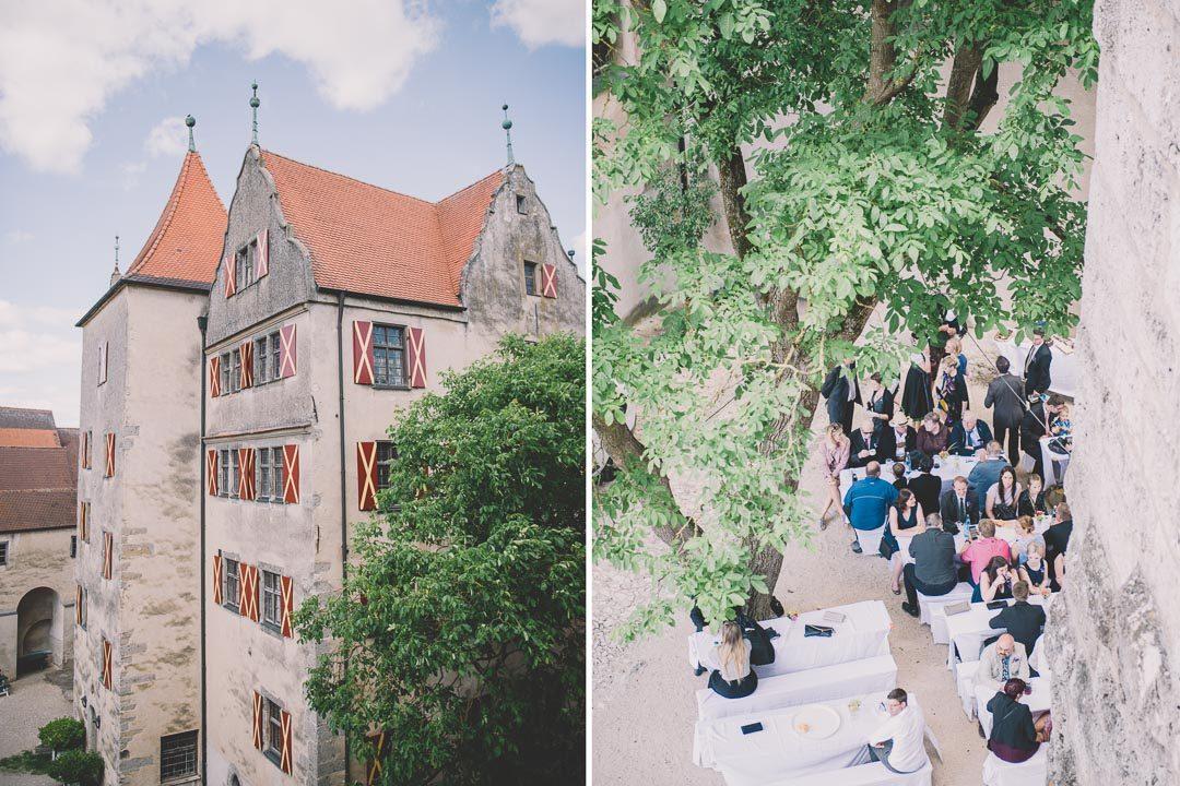 Innenhof Schlosshof Harburg