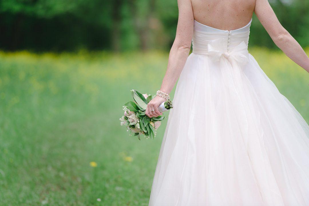 Brautportrait mit Brautstrauß