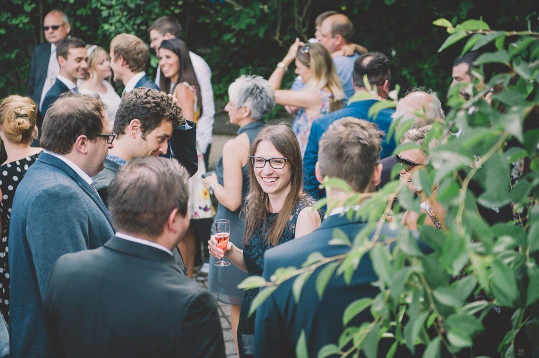 Gratulationen bei Hochzeit