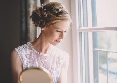 Boho Bohemian Braut mit Flechtfrisur
