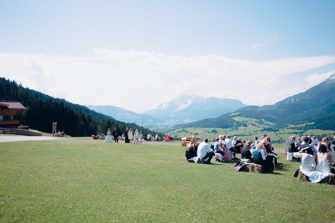 Panoramafoto bei Hochzeit