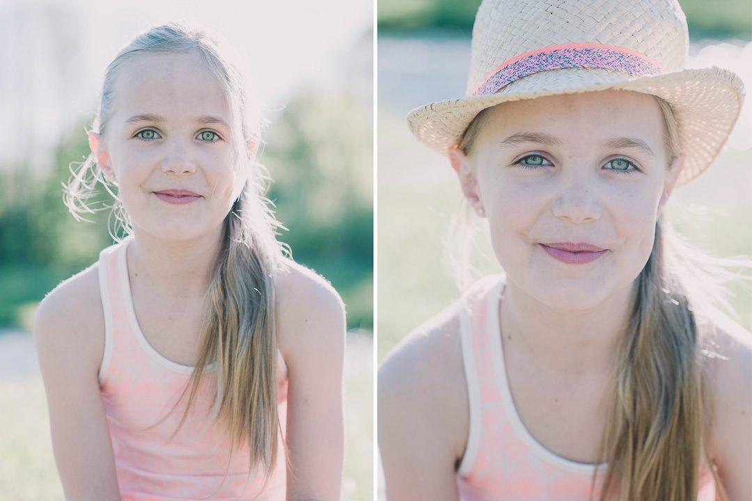 Strohhut für den Sommer für Mädchen