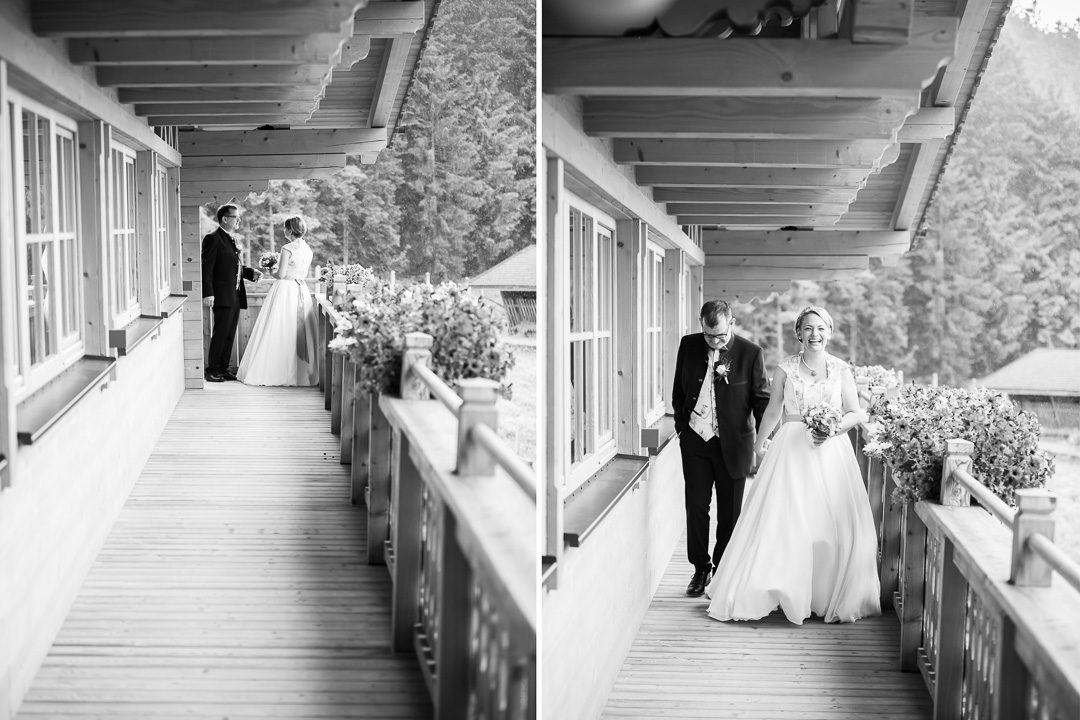 Schwarz weiß Hochzeitsfotos Jufenalm Maria Alm