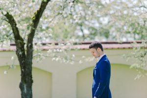 First Look Hochzeitsfotos vor der Trauung