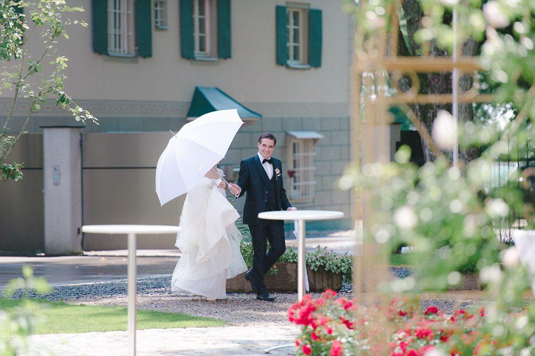 Paarportraits bei der Hochzeit auf Schloss Illereichen