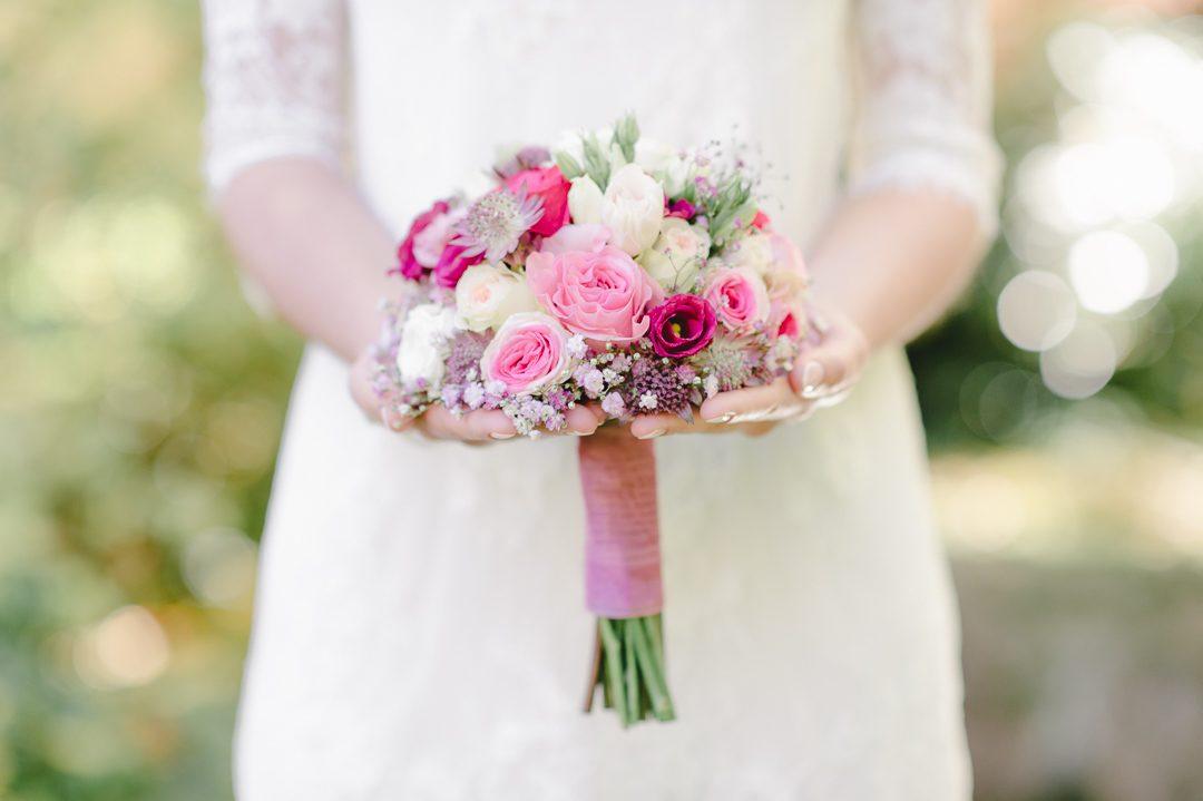 Brautstrauß in Rosa und pink