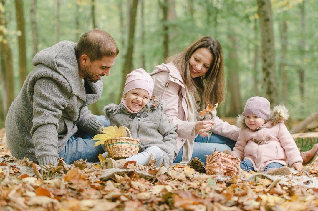 Familienfotos im Herbst Ideen