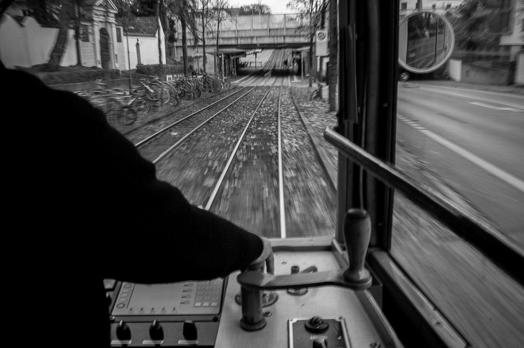 Augsburg historische Straßenbahn