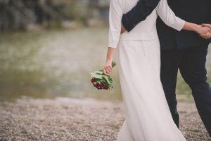 Brautpaar am Strand Stegen am Ammersee