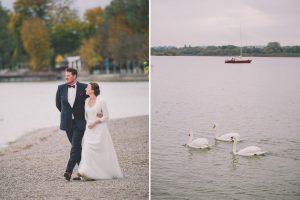 Stegen am Ammersee Paarportraits bei Hochzeit