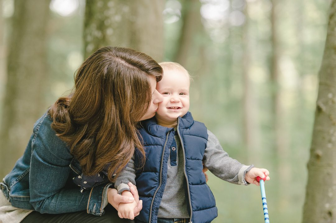 Mama mit Sohn Portrait