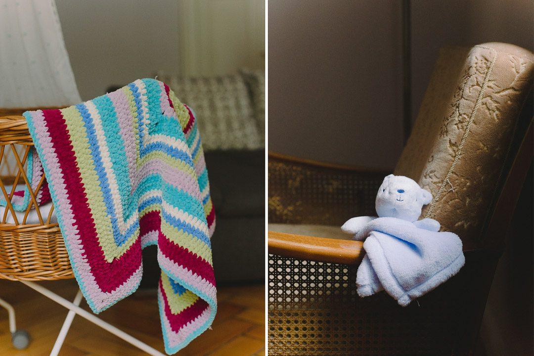 Selbstgehäkelte Decke für ein Baby