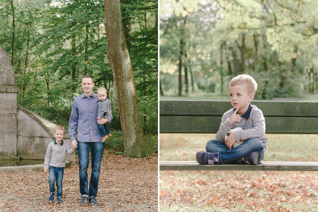 Vater mit Sohn im Siebentischwald Augsburg