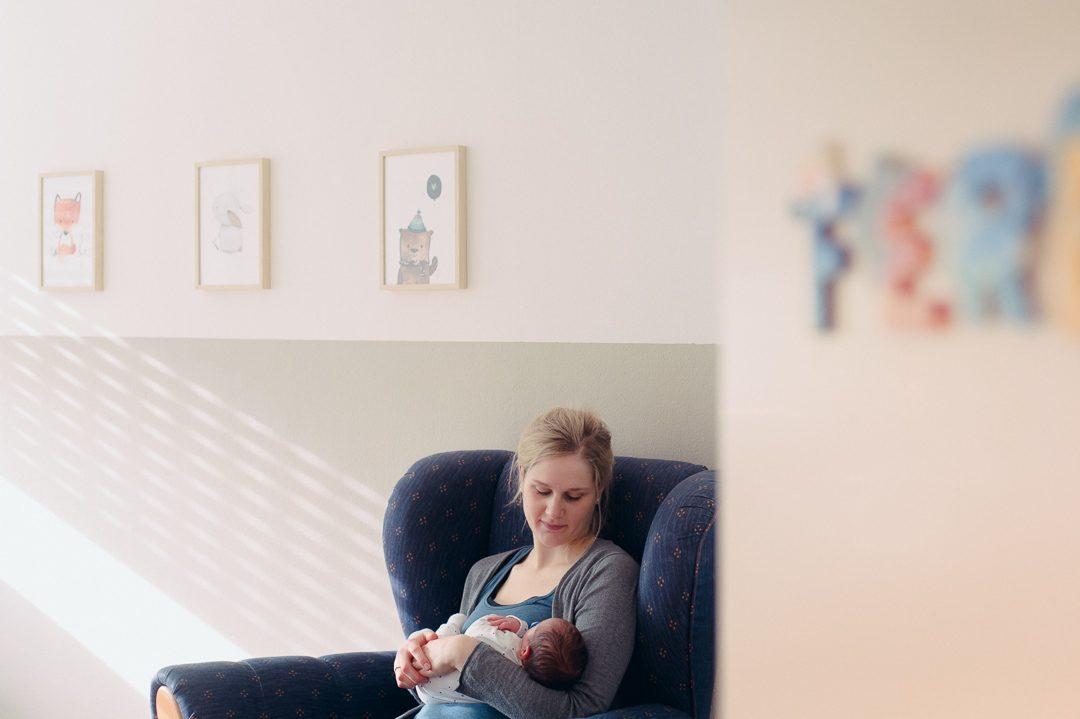 Babyfotos zuhause in Buchloe