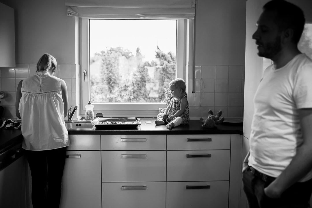 Dokumentarische Familienfotografie zuhause