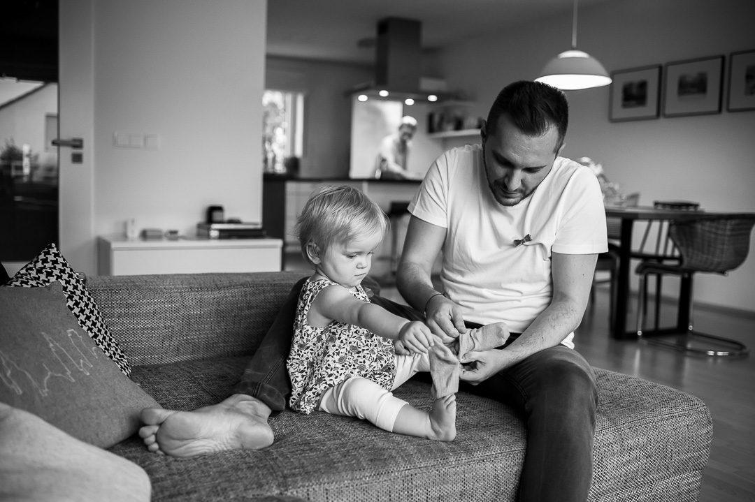 Dokumentarische Familienfotografie im Alltag