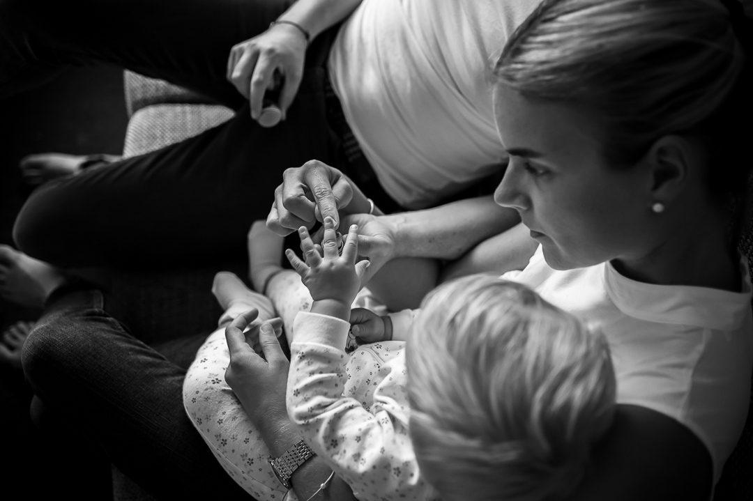 Zubettgeh Ritual mit Kleinkind