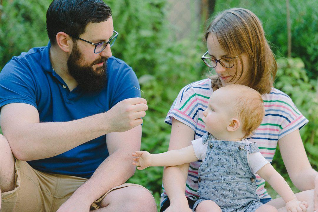 Familienglück im eigenen Garten