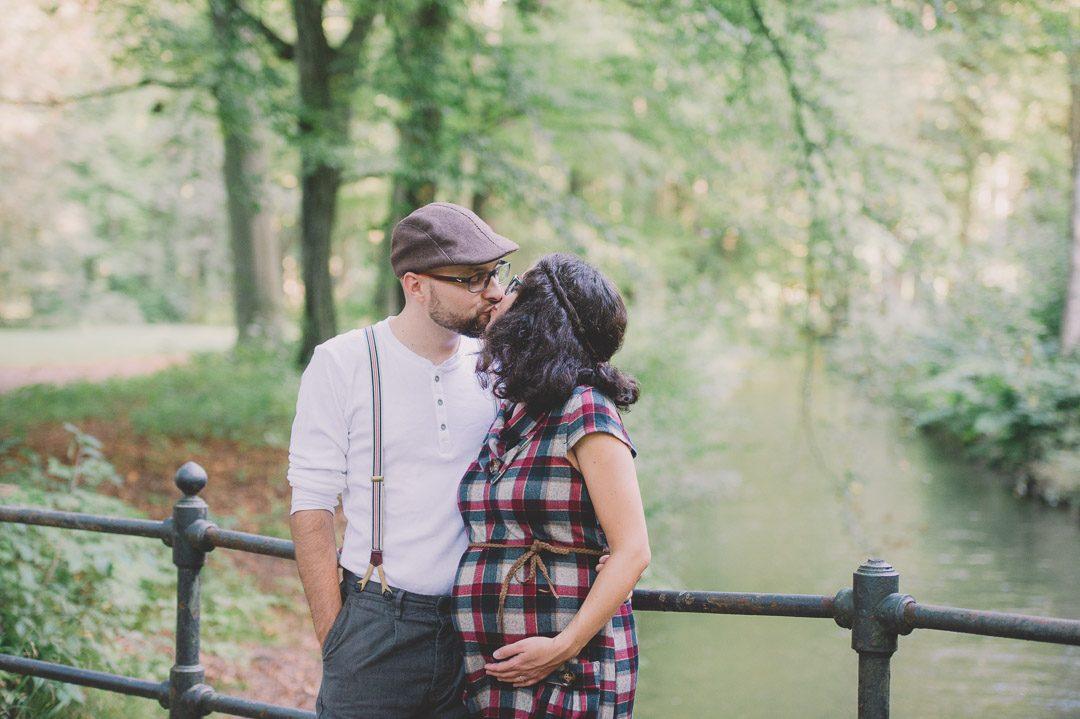 Schwangerschaftskleid für Fotoshooting