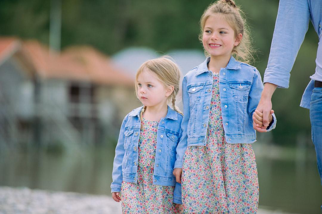 Blümchenkleid für Geschwister