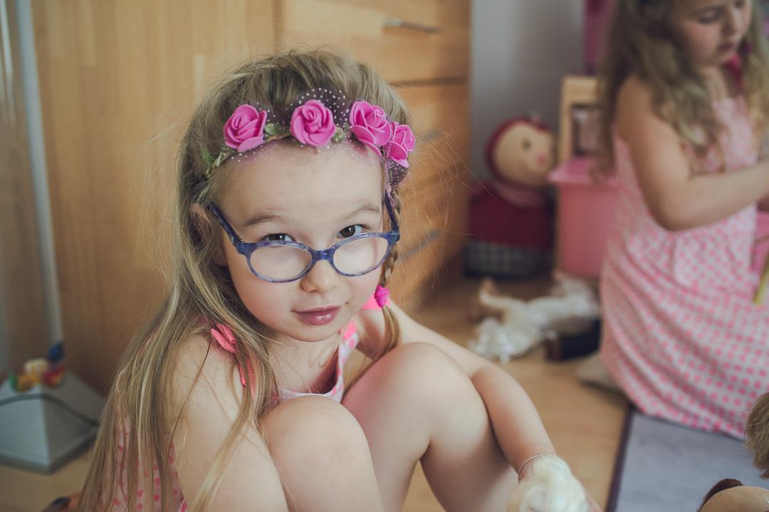 Flotte Brille für kleines Mädchen